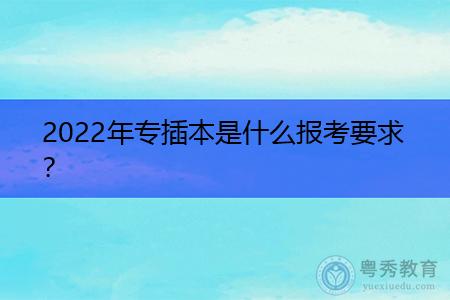 2022年广东专插本报考的要求是什么?