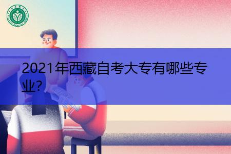 2021年西藏自考大专有哪些专业可选择报考?