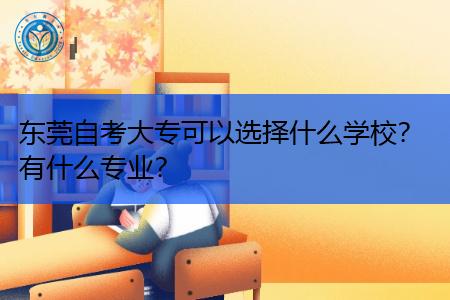 东莞自考大专可以选择什么学校,有什么专业可报考?