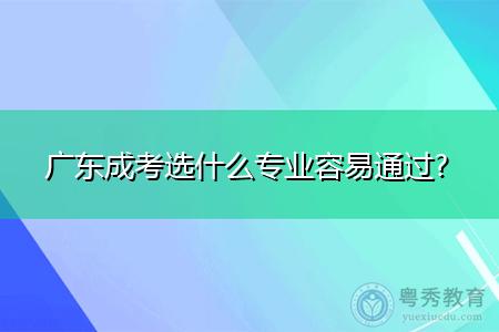 广东成考选什么专业报考容易通过考试?