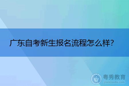 广东自考新生报名流程是怎么样,报考时间是什么时候?