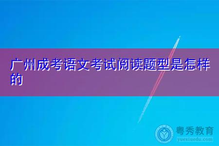 广州成考语文考试阅读题型有哪些,如何掌握复习的方法?