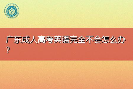广东成人高考英语好考吗,基础不好怎么办?