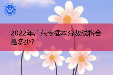 2022年广东专插本预估录取分数线是多少分?