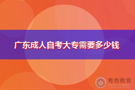 广东成人自考大专报考需要多少钱?
