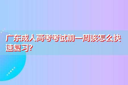 广东成人高考好不好考,考生该怎么快速复习?