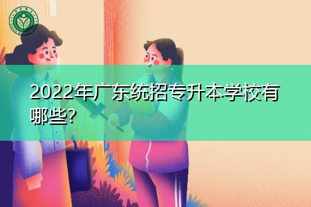 2022年广东统招专升本院校都有哪些?