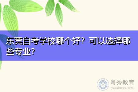 东莞自考可选择的学校和专业都有哪些?