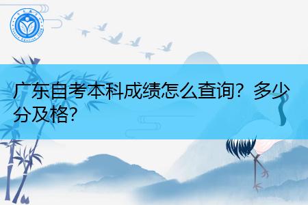 广东自考本科成绩怎么查询,多少分及格?