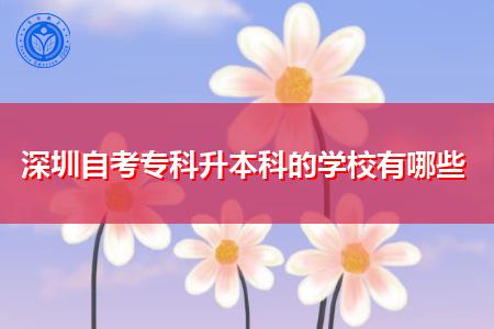 深圳自考专科升本科的学校和专业都有哪些?