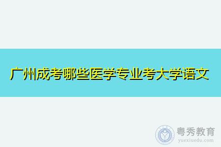 广州成考哪些医学专业需要考大学语文科目?