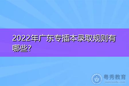 2022年广东专插本录取规则有哪些?
