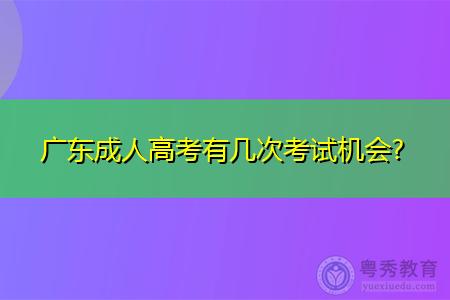广东成人高考有几次考试机会,报考需要什么条件?